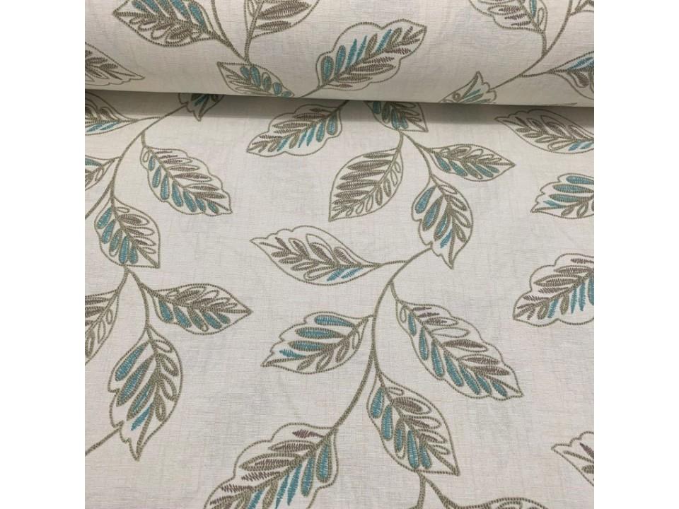 051850-V02  Завеса / дамаска с листа