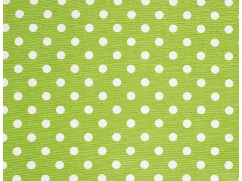 12706 - 11 Завеса / дамаска зелен плат на бели точки