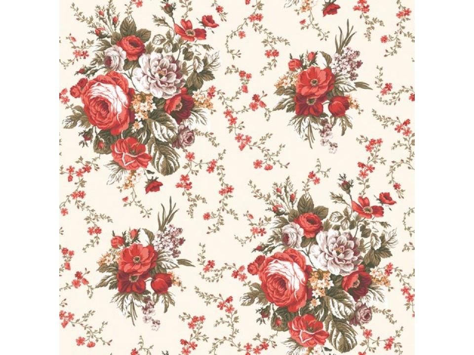 130087 - 30 Завеса / дамака букет свежи цветя в керемидени тонове