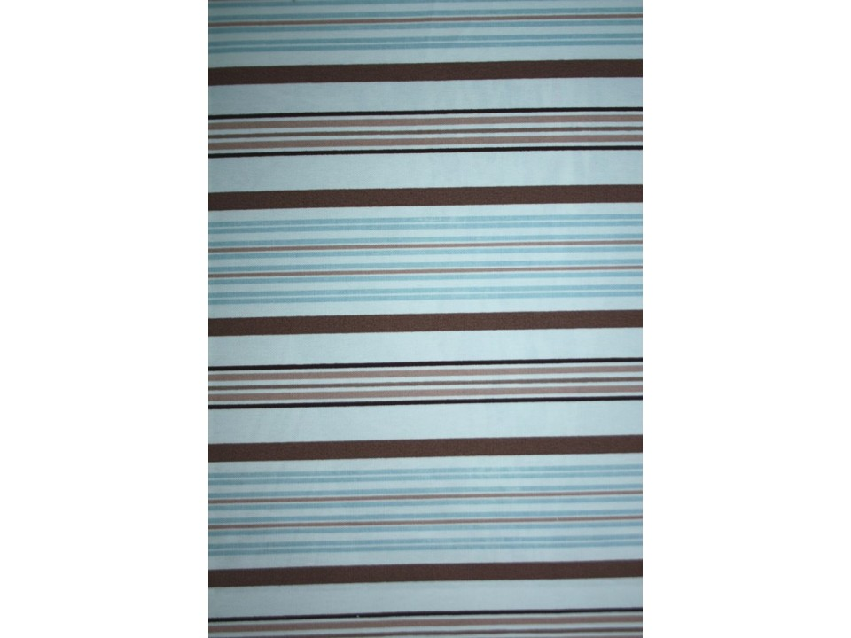 61200 - 16 Stripe Завеса / дамаска светлосини и кафеви райета