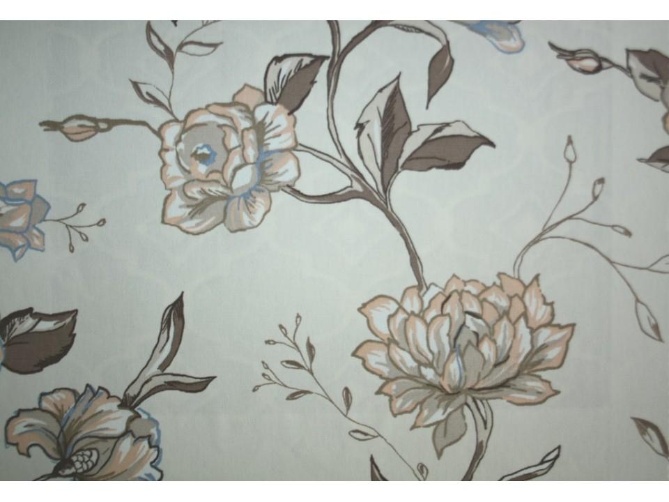 93188 - 3 Bouquet Завеса / дамаска с цвет в светло кафяво и бледо оранжево