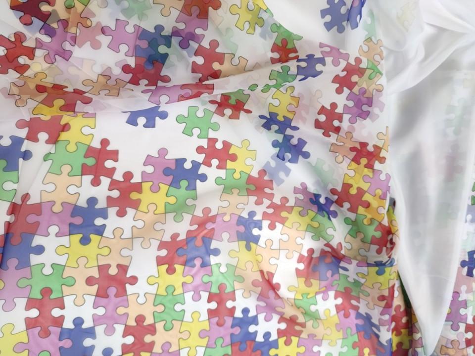 7226-v1-puzzle Плат за пердета с оловна нишка/ Воал