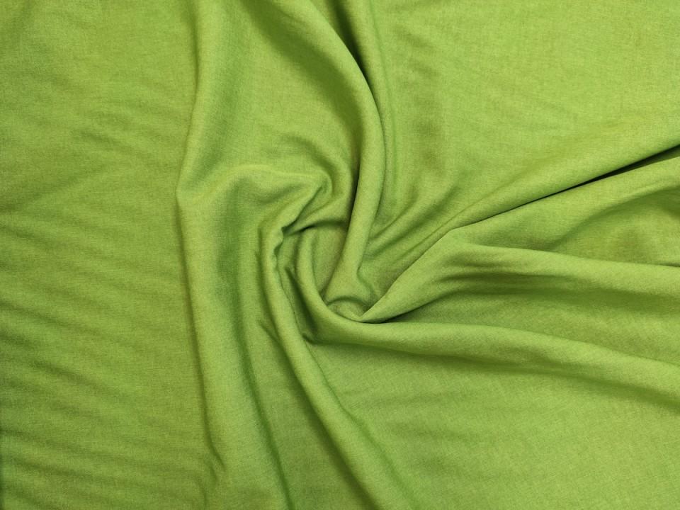 35281-dcy743 Плат за завеси имитация на лен блекаут цвят светло зелено