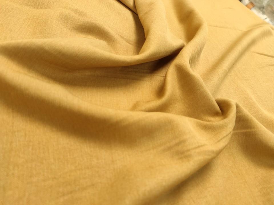 35281-dcs848 блекаут плат за завеси имитация на лен  цвят охра