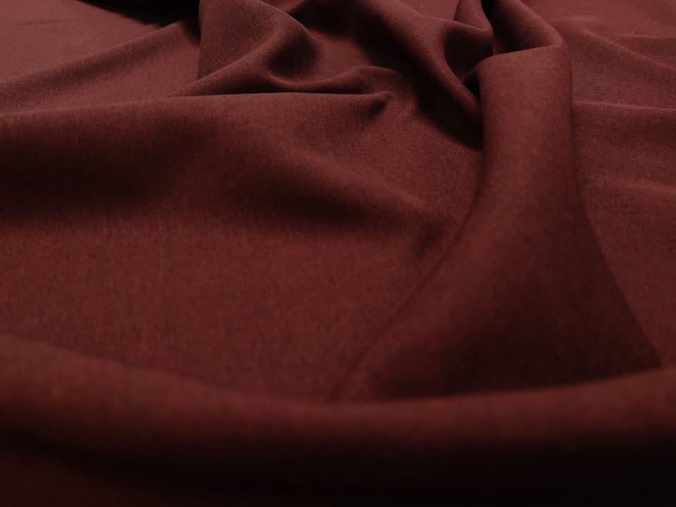 35281-dck1679 Плат за завеси имитация на лен блекаут цвят бордо