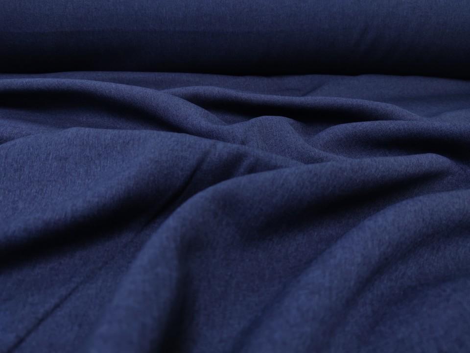 35281-dcm945 Плат за завеси имитация на лен блекаут цвят тъмно синьо