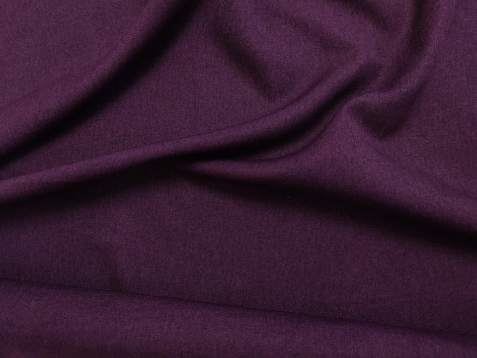 35281-dcm946 Плат за завеси имитация на лен блекаут цвят лилаво