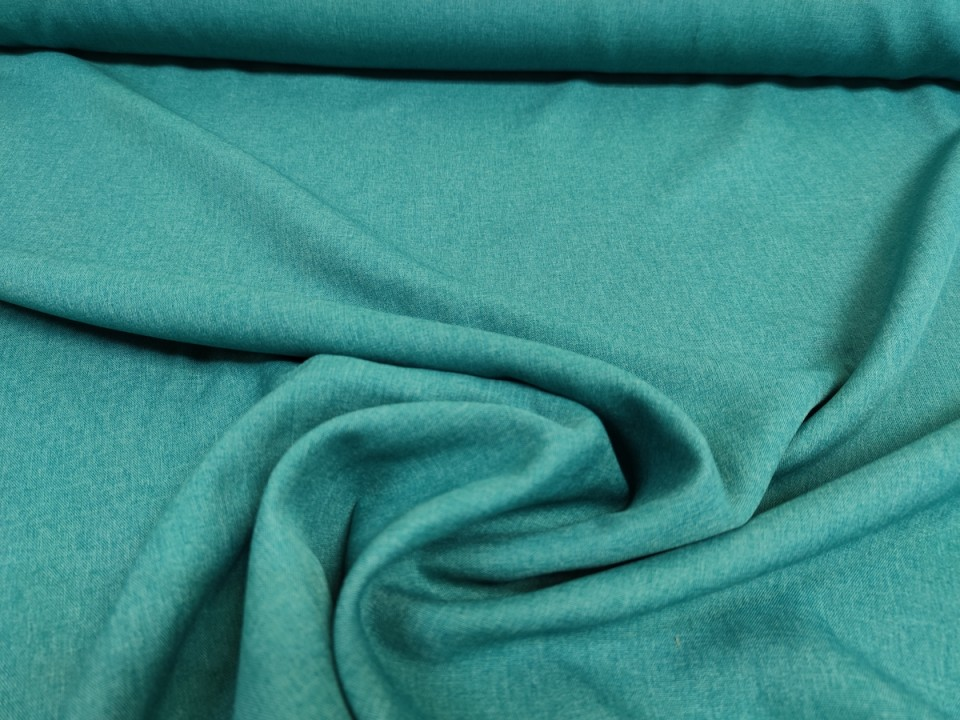 35281-dcm1064 Плат за завеси имитация на лен блекаут цвят тюркоаз