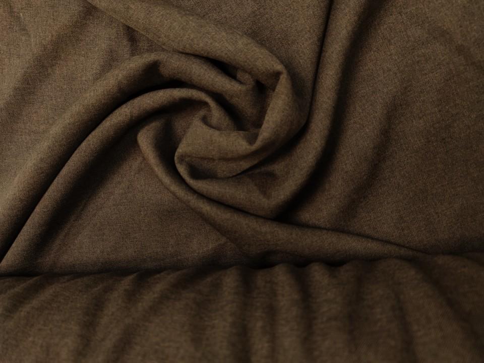 35281-dck1673 Плат за завеси имитация на лен блекаут цвят венге