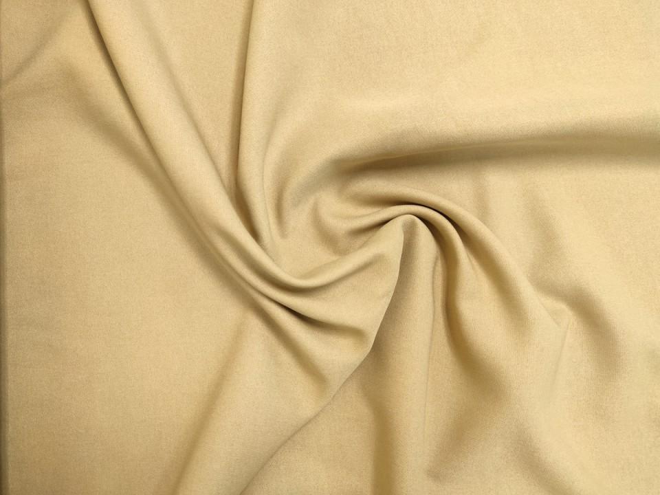 35281-dcs814 Плат за завеси имитация на лен блекаут цвят слонова кост