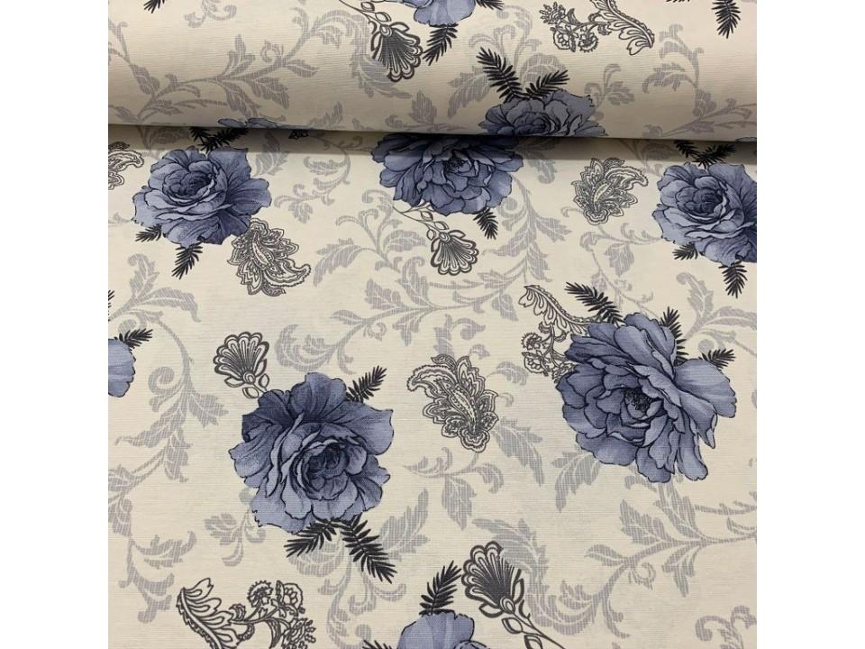93437-  V1  Завеса / дамаска на цветя