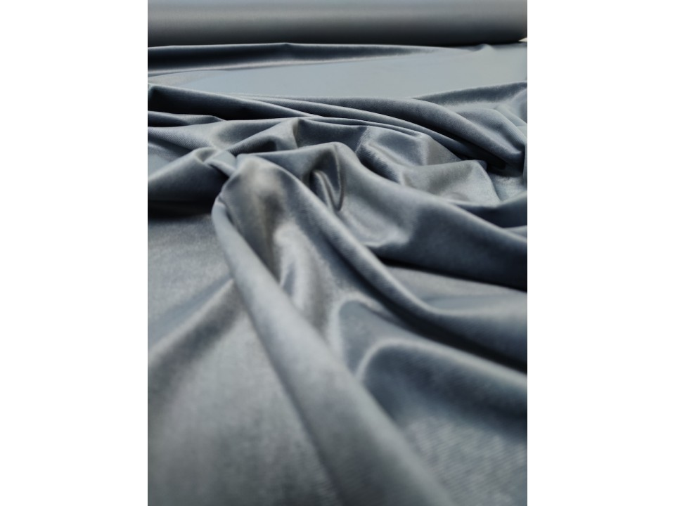 Плат 3838 Rio кадифе - цвят тъмно сиво