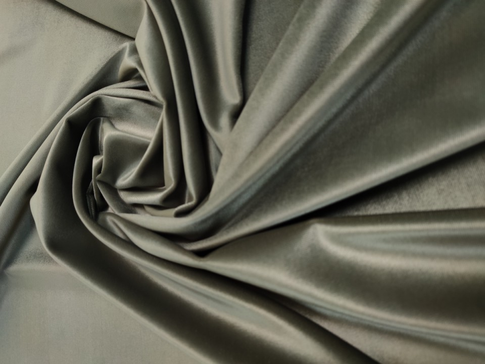 Плат 3838 Rio кадифе - цвят сребристо зелено