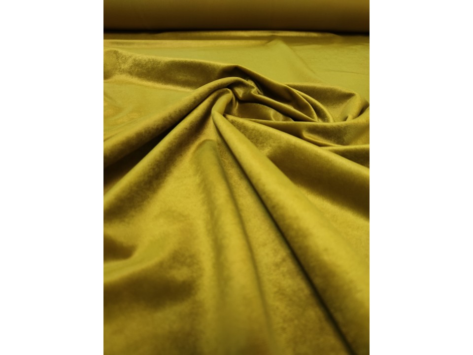 Плат 3838 Rio кадифе - цвят златиста ОЛИВА